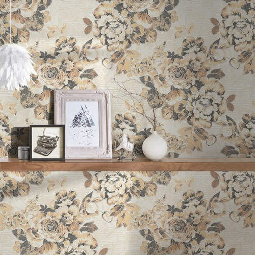 338642-behangpapier-bloemen-goud