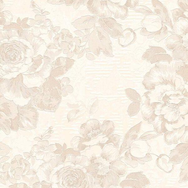 behangpapier bloemen 338643 beige