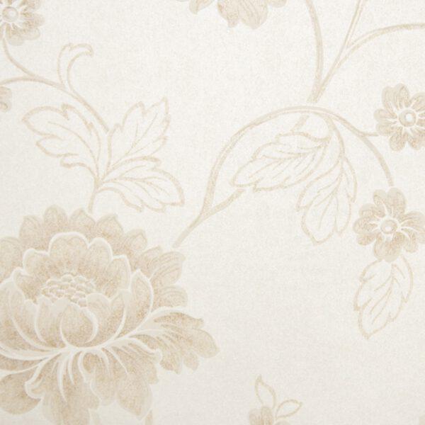 Bloemen behangpapier beige 6370-1