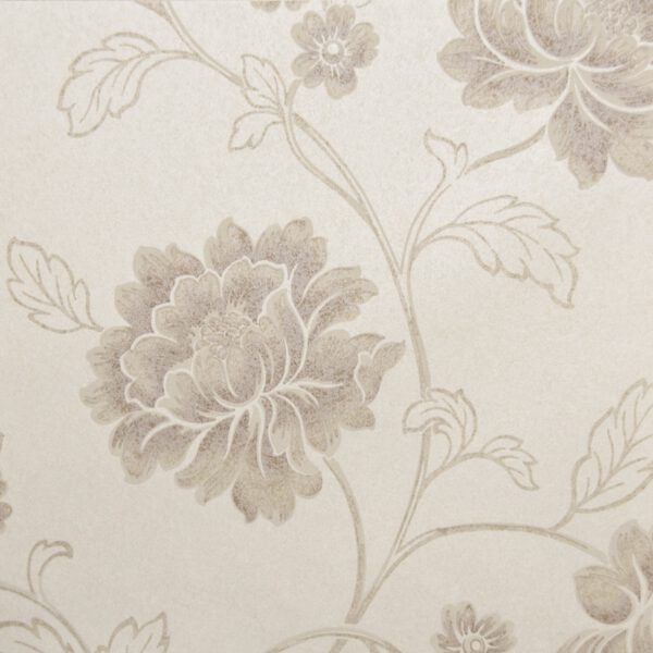 bloemen behangpapier bruin 6370-2