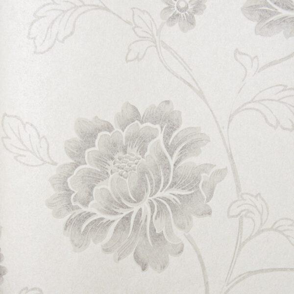 63703-bloemen-behangpapier-grijs