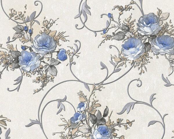 bloemen-behang-blauw-30420-1