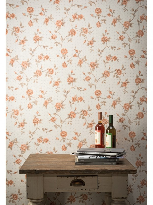 bloemen-behangpapier-oranje-80801-kamerfoto