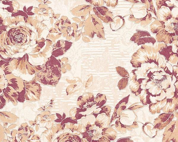 bloemen-behangpapier-rood-338645
