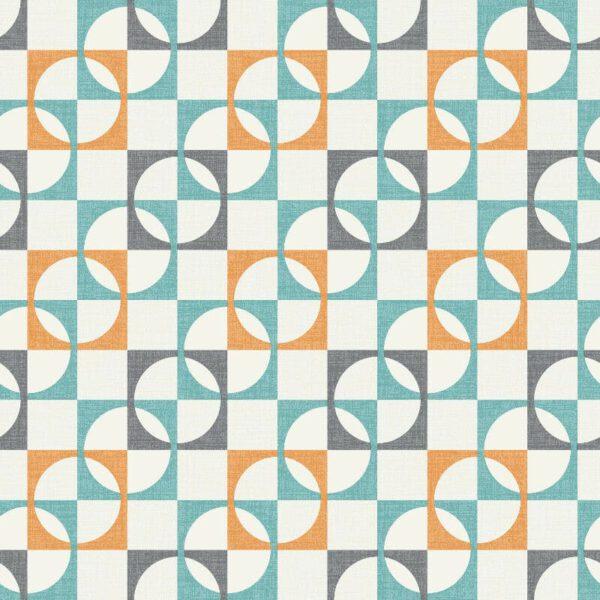 behangpapier-retro-blauw-oranje-277104