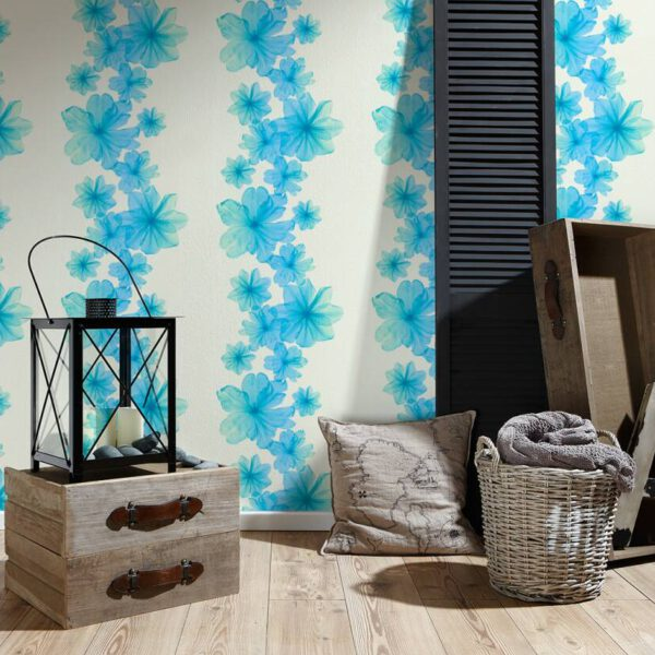 behang-bloeme-blauw-342725-slaapkamer