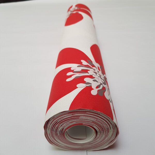bloemen-behangpapier-rood-700169-rol