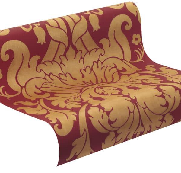 546408-barok-behangpapier-kamer-rood-goud
